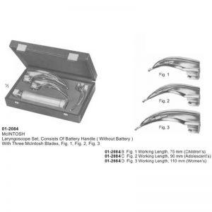 McINTOSH Laryngoscope Set With 3 McIntosh Blades