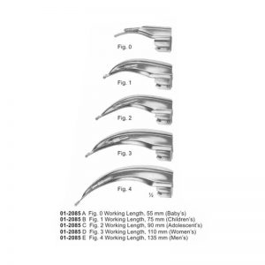 Blades For McIntosh Laryngoscope Set