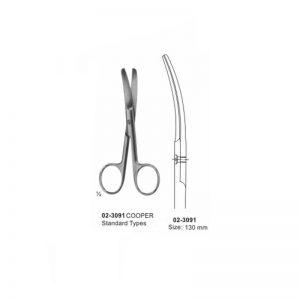COOPER Surgical Operating Scissor Blunt-Blunt Curved 130 mm