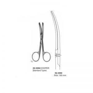 COOPER Surgical Operating Scissors Blunt-Blunt Curved 165 mm