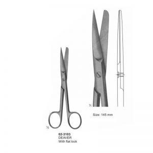 DEAVER Surgical Scissor Sharp-Blunt Straight 145 mm
