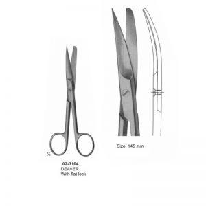 DEAVER Surgical Scissor Sharp-Blunt Curved 145 mm