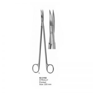 Strully Pointed Cardiovascular Scissors 220 mm