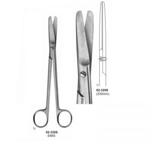 Sims Gynaecology Scissors Straight Blunt 230 mm