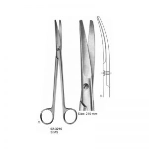 Sims Gynaecology Angled Scissor Blunt 210 mm