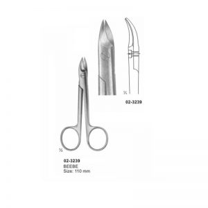 Beebe Curved Scissors 110 mm Sharp