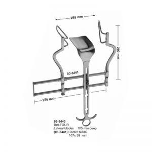 Balfour Lateral Blade 105 mm Deep Abdominal Retractor